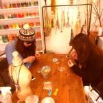 ドライフラワーアクセサリーのワークショップ(手作り体験)名古屋