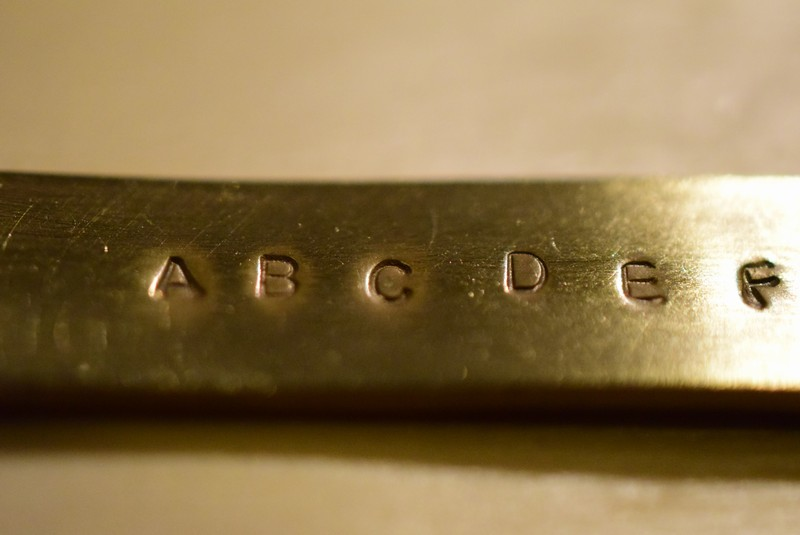 ブラス 真鍮 刻印 文字 名前