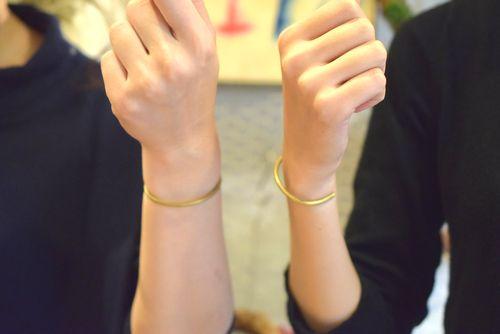 ブラス バングル ムーンライト 手作り体験 アクセサリー 名古屋 カップル