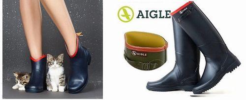 エーグル 雨靴