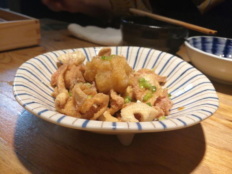 鶏皮 ポン酢